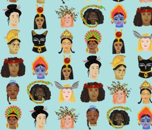 Goddesses Around the World by By Anja Riebensahm
