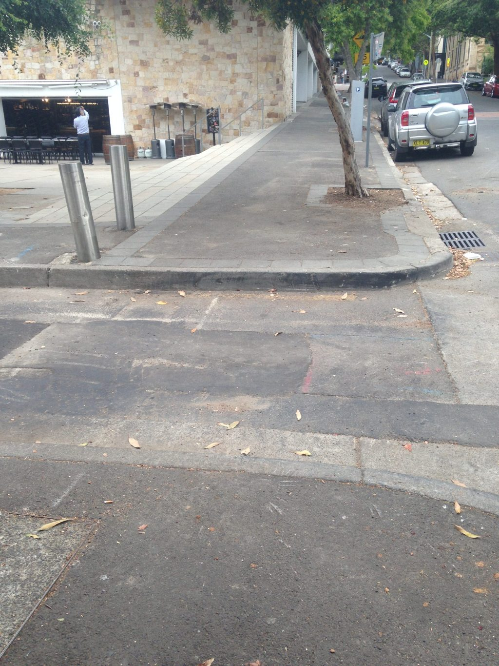 Kerb ramp needed