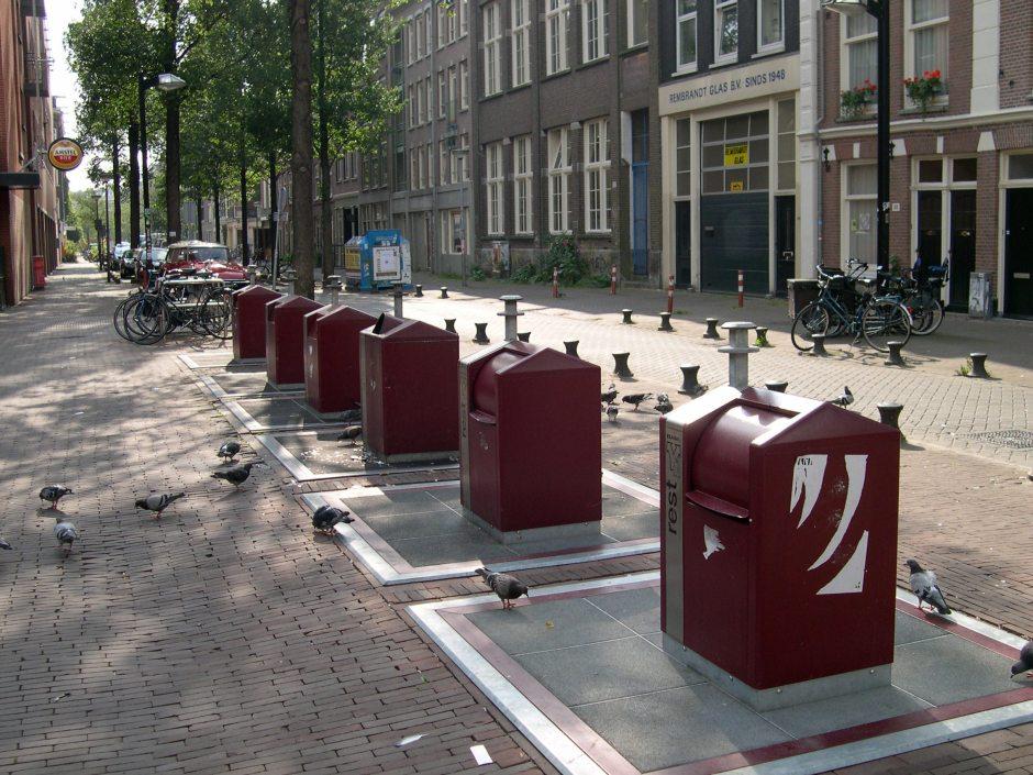 Rubbish bins in Amsterdam