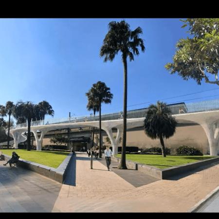 Concept image of the Sydney Harbour Bridge North linear ramp