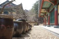 Jangdokdae - a row of clay pots storing food