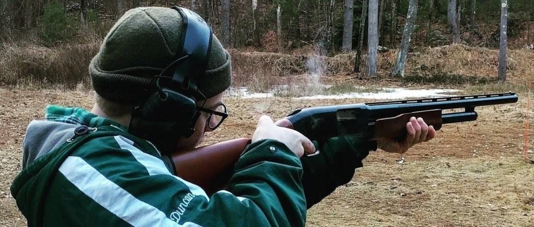 Teenager enjoying the shooting range