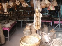 Eco-friendly bamboo baskets, hats, seives