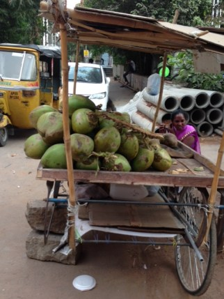 Tender coconuts on cart
