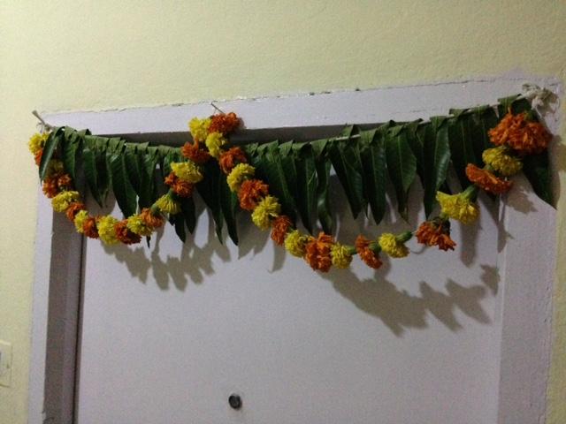 Floral door decoration