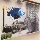 Création Visuelle PalissadeTravaux Centre Commercial