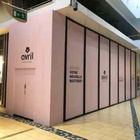 Adhésifs Vitrines Palissade Bois Centre Commercial Nhood St Omer Longuenesse