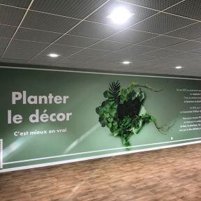 Impression Numérique Coverings Murs Centre Commercial Les 3 Fontaines Cergy-Pontoise