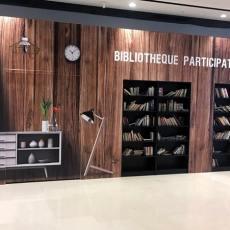 Palissade Bibliothèque Centre Commercial Hammerson Les 3 Fontaines à Cergy-Pontoise