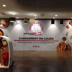Palissade Chantier French Cantine CentreCommercial Hammerson Oparinor