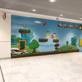 Palissade créative centre commercial