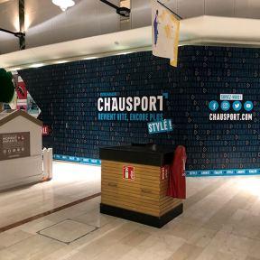Palissade Travaux Aluminium Chausport Chantier Centre Commercial Nhood Avignon Nord Le Pontet