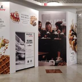 Palissade Travaux Bois Waffle Factory Chantier Centre Commercial Mayol