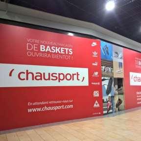 Palissade Travaux Chausport Centre Commercial