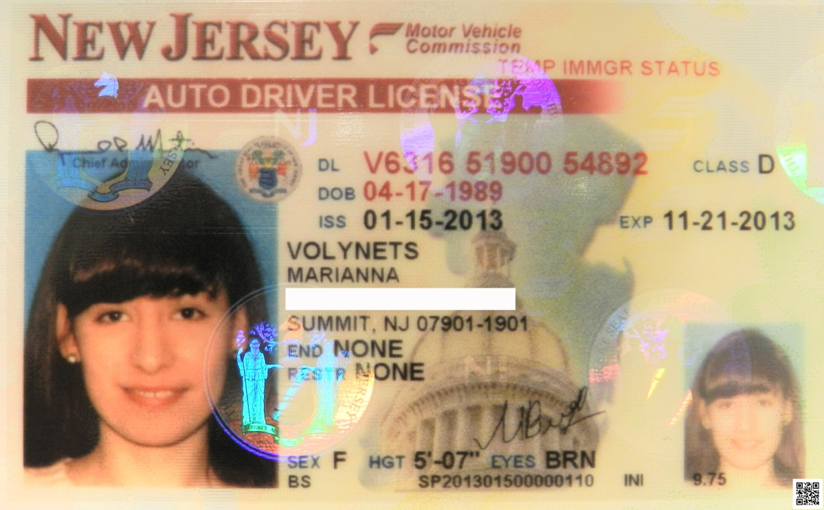 New Jersey's Driver's License