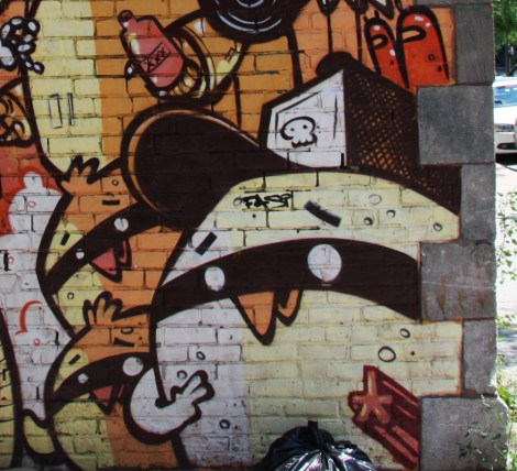 detail of mural by Astro near Duluth
