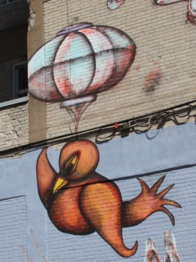 Labrona & Gawd, detail from mural on Clark street