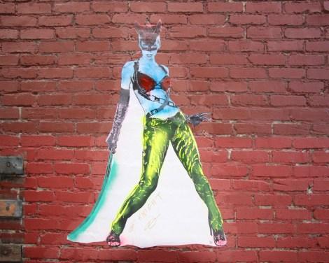 Graffiti Knight wheatpaste