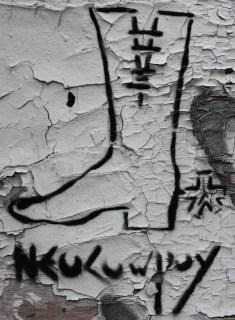 Neocowpoy stencil, corner St-Dominique and Marie-Anne