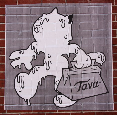 Tava paste-up in the Plateau