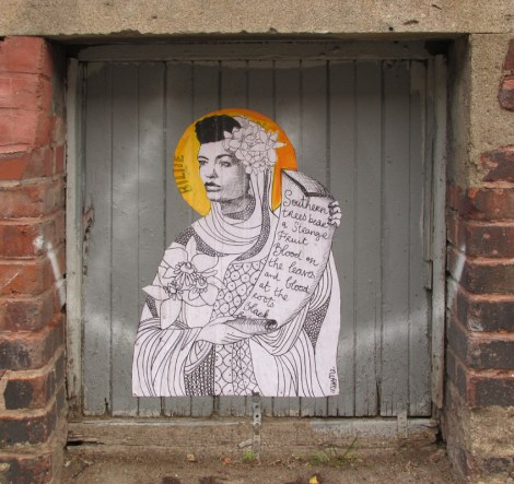 Miss Me wheatpaste of Billie Holiday