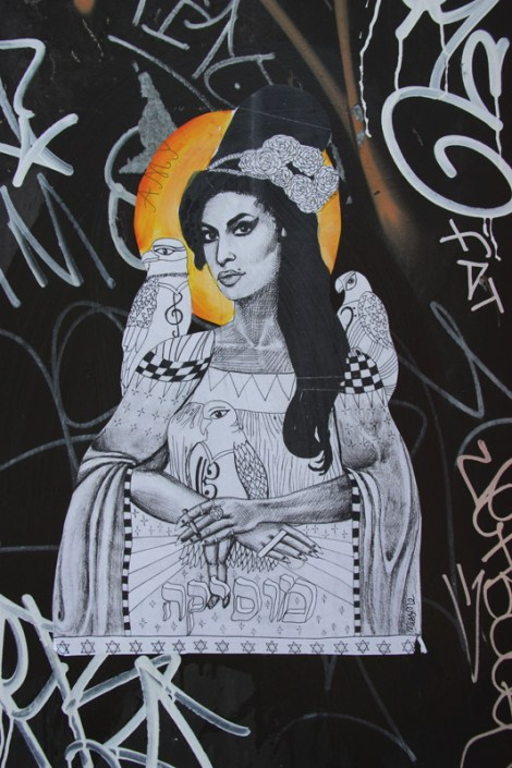 Miss Me wheatpaste of Amy Winehouse