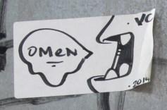 Omen hand-drawn sticker