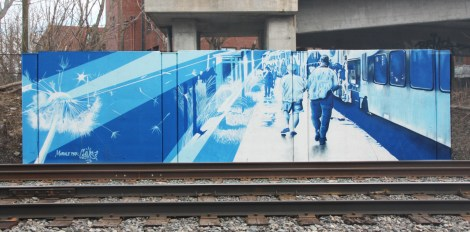trackside mural by Cems for A'Shop