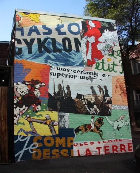 mural by William Patrick and Adam Sajkowski for Mu on Savoie
