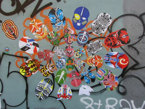 Baubo wheatpastes for Off Murales