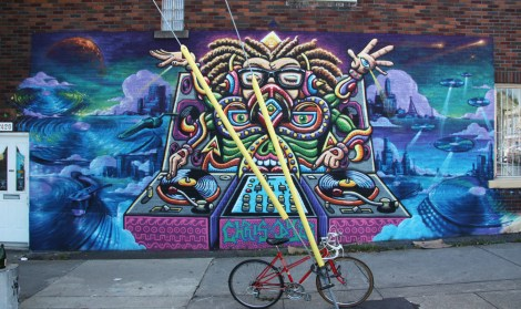 Chris Dyer aka Positive Creations with background by Monk.e on Wurtele