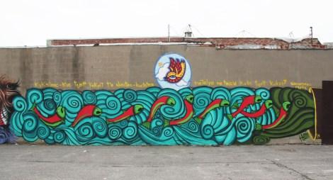 Chris Bose / Kyoti mural for Decolonizing Street Art event 2014