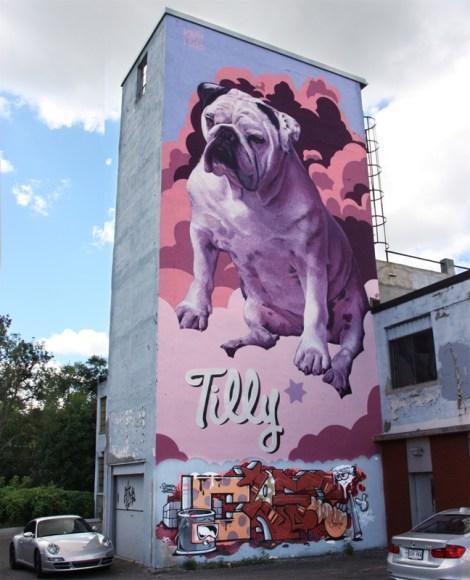 Huge Kevin Ledo mural in Côte des Neiges
