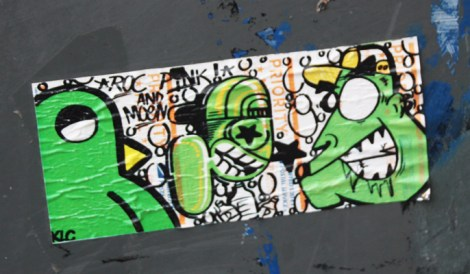 Collaboration sticker between ROC514 (left), Pink (middle) and Moen (right)