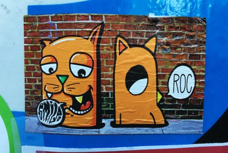 collaboration sticker between Smile (left) and ROC514 (right)