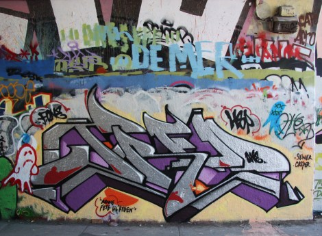 F.One at the Rouen tunnel legal graffiti wall