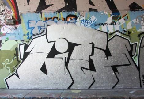 Lith at the Rouen legal graffiti tunnelo