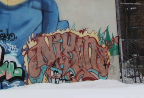 Nixon graffiti on Casgrain