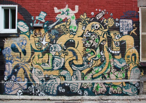Nixon graffiti mural in Pointe St-Charles