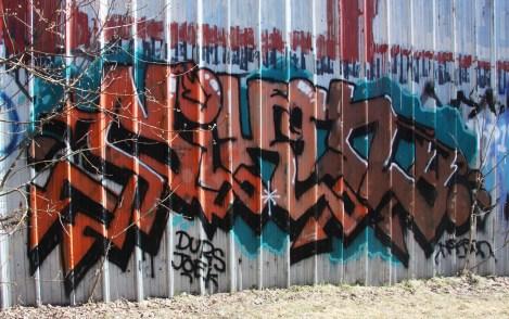 Nixon graffiti in upper HoMa