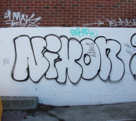 Nixon graffiti on Fabre