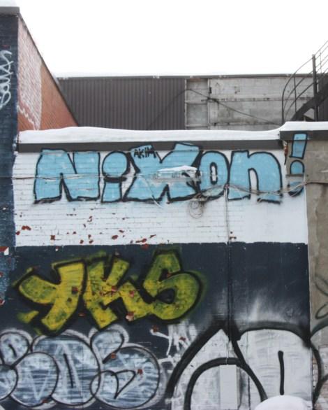 Nixon graffiti on St-Denis