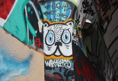 Small Waxhead piece on the Rouen tunnel legal wall