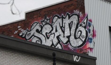 Scaner graffiti on roof