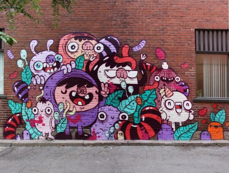 Astro in a Hochelaga alley (detail 1/3)