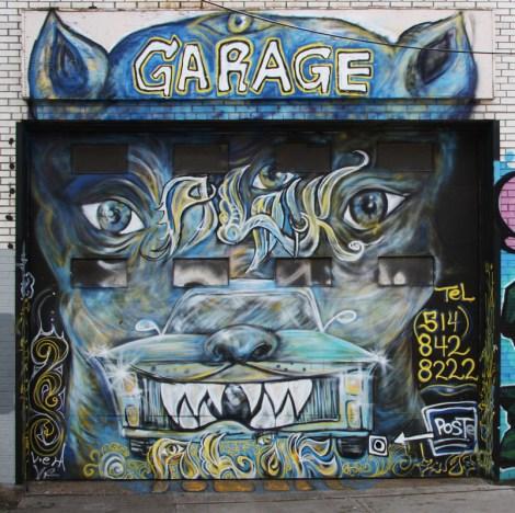Swaz on St-Dominique garage door