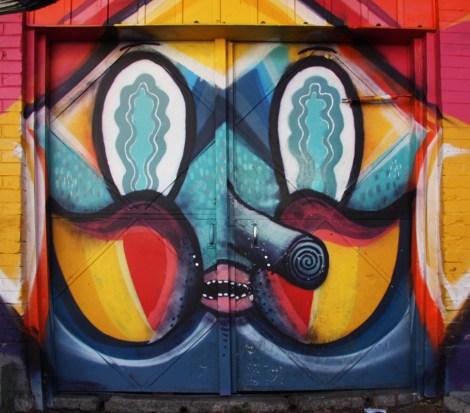 Waxhead on St-Dominique garage door