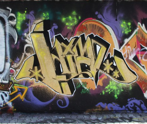 Himz graffiti at the Charlevoix legal graffiti wall