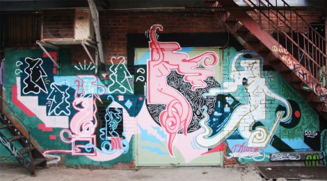 Piece by Sutra in alley behind St-Laurent