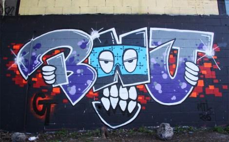 Ben J graffiti